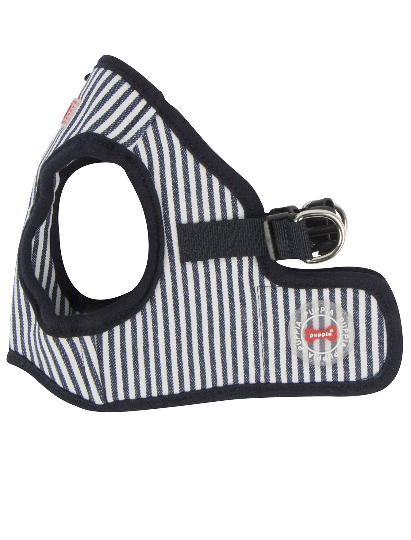 Puppia Stripped Navy Bobby Vest Harness for Dogs (3 Sizes) | Perromart Online Pet Store Singapore