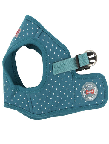 Puppia Teal Dotty Vest Harness for Dogs (3 Sizes) | Perromart Online Pet Store Singapore