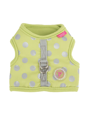 Puppia Lime Chic Pinka Harness for Dogs (2 Sizes) | Perromart Online Pet Store Singapore