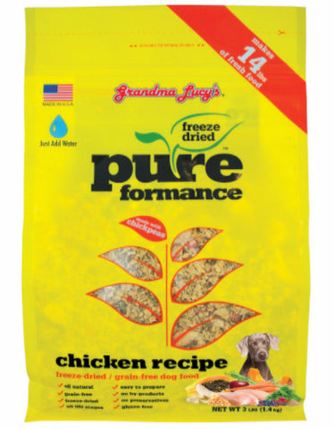 Grandma Lucys PureFormance Freeze Dried Food Chicken Recipe 3lbs