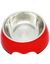 Paws & Pal Feed Pal Stainless Steel Feeding Bowl For Dog Red (2 Sizes)