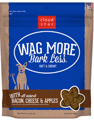 [TREATS SALE] [PRICES REDUCED] Cloud Star Wag More Bark Less Soft & Chewy Dog Treats Bacon, Cheese & Apples 170g