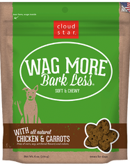 [TREATS SALE] [PRICES REDUCED] Cloud Star Wag More Bark Less Soft & Chewy Dog Treats Chicken & Carrots 170g