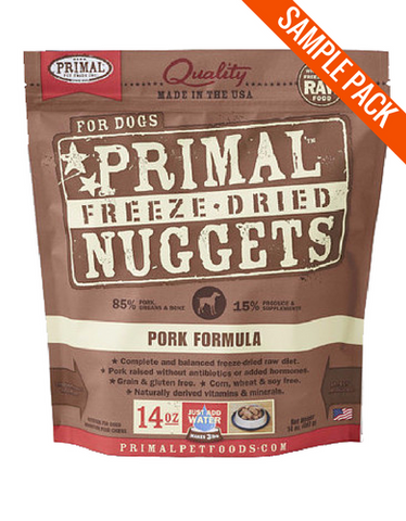 Primal Freeze Dried Canine Pork Nuggets Sample