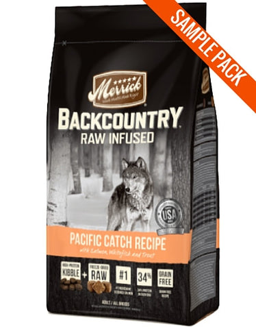 Merrick Backcountry - Raw Infused - Pacific Catch Recipe Sample - Perromart