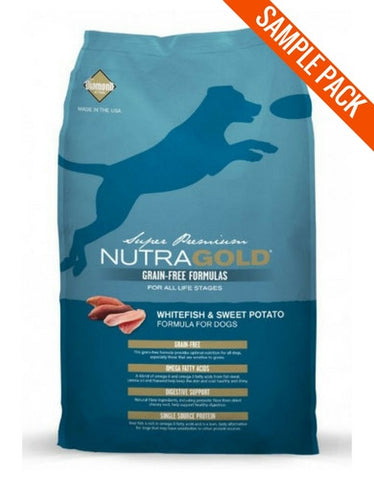 Nutragold Grain Free Whitefish and Sweet Potato Dry Dog Food Food Sample - Perromart