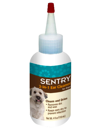 Sentry 2-in-1 Ear Cleaner for Dogs 4oz