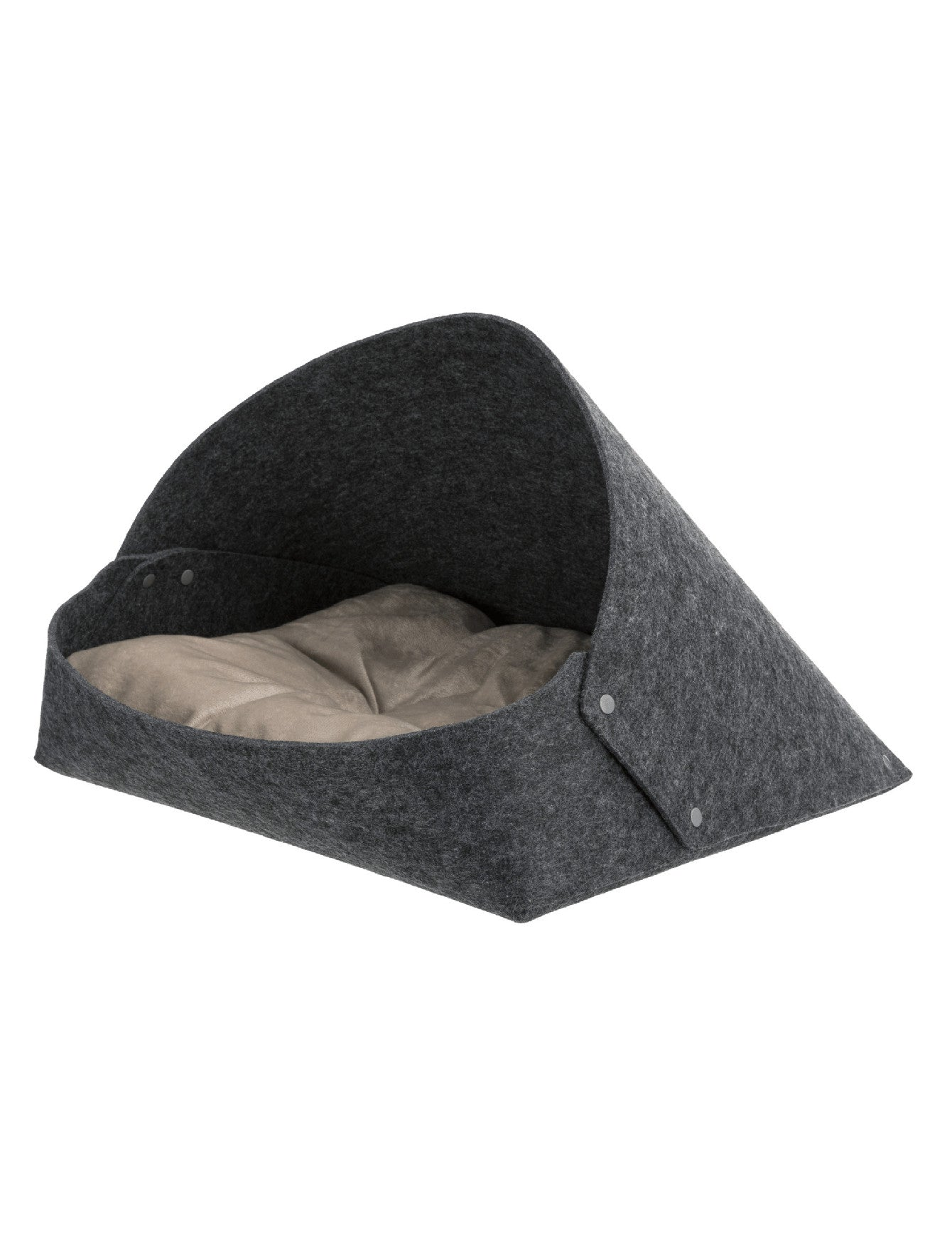 Trixie Arta Cuddly Cave Felt Anthracite For Dogs 55 × 50 × 77 cm | Perromart Online Pet Store Singapore