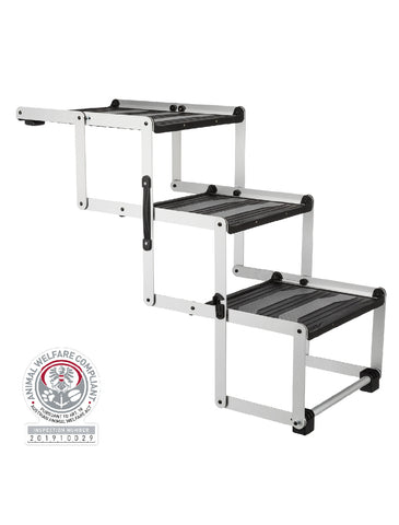 Trixie Folding Steps Petwalk Aluminium For Dogs 37 cm x 57 cm x 120cm | Perromart Online Pet Store Singapore