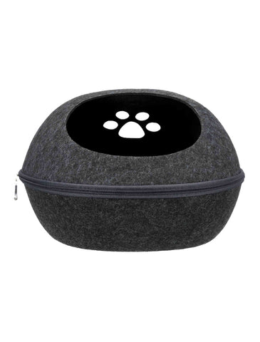 Trixie Liva Cuddly Cave Felt Anthracite For Dogs 40 × 24 × 47 cm | Perromart Online Pet Store Singapore