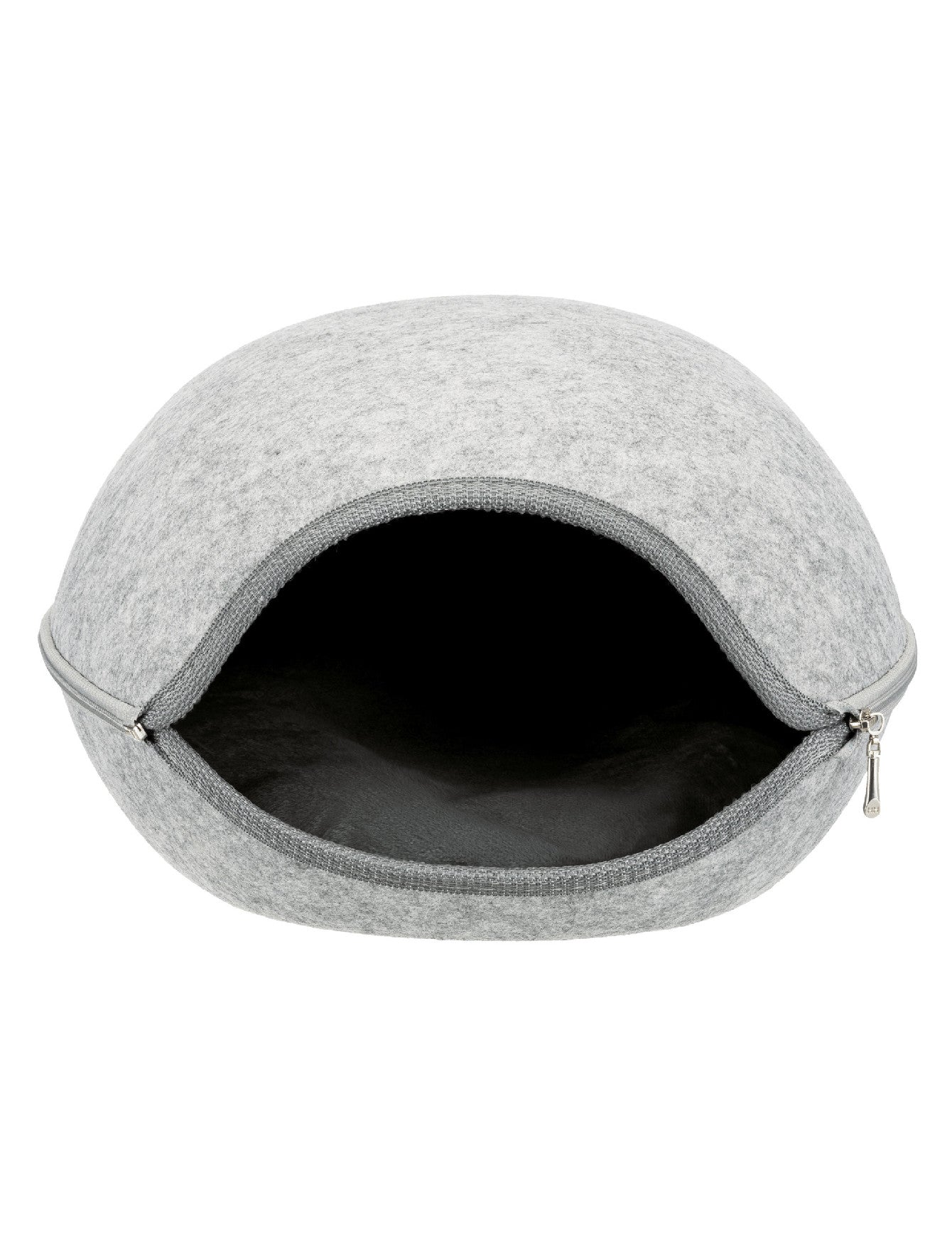 Trixie Luna Cuddly Cave Felt Light Grey For Dogs 40 × 24 × 46 cm | Perromart Online Pet Store Singapore