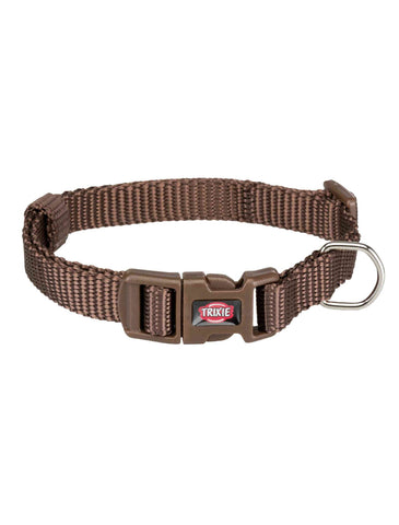 Trixie Premium Collar for Dogs - Mocca (4 Sizes) | Perromart Online Pet Store Singapore
