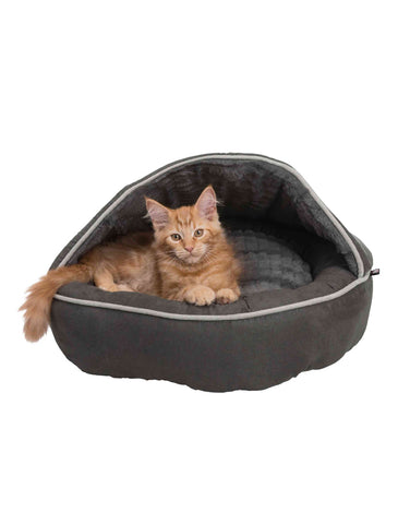 Trixie Timber Cuddly Cave Anthracite For Dogs (2 Sizes) | Perromart Online Pet Store Singapore
