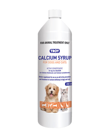 Troy Calcium Syrup for Pet 250ml | Perromart Online Pet Store Singapore
