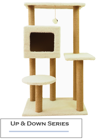 Paw Made Up & Down 105cm Height Cat Condo White