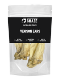 Graze NZ Natural Venison Ear Dog Chew (2 Sizes)