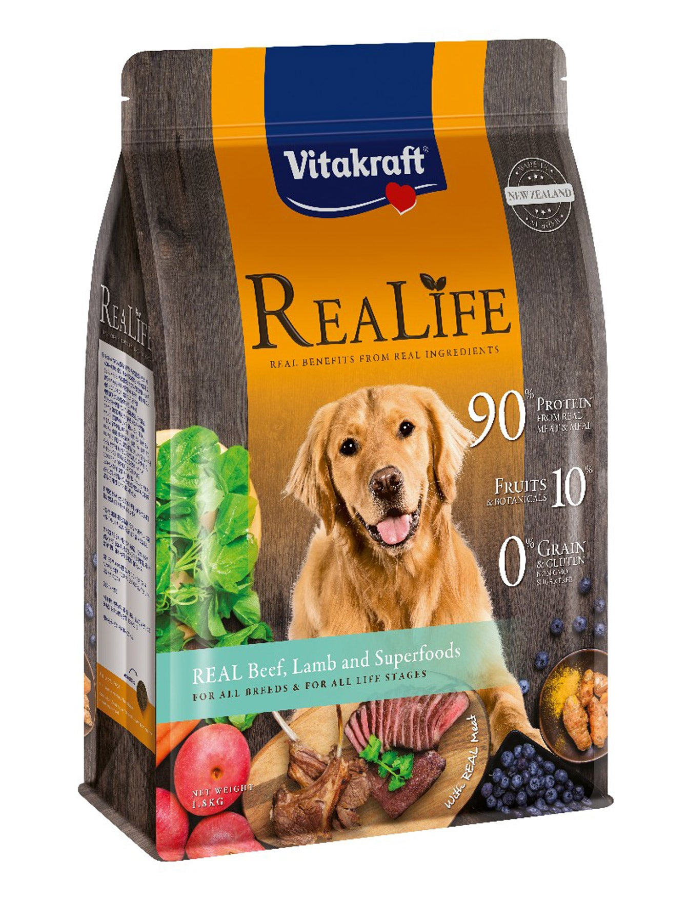 Vitakraft ReaLife Real Beef, Lamb & Superfoods Dog Dry Food | Perromart Online Pet Store Singapore