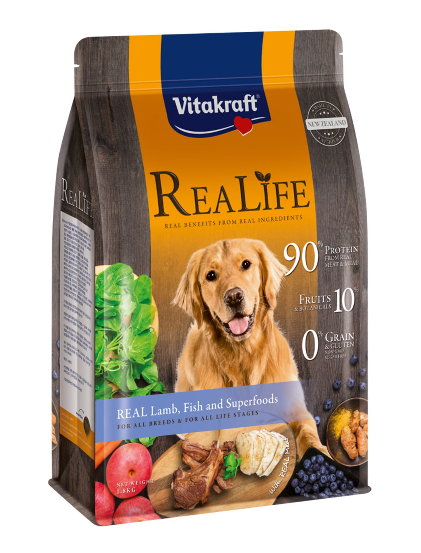 Vitakraft ReaLife Real Lamb, Fish & Superfoods Dog Dry Food | Perromart Online Pet Store Singapore