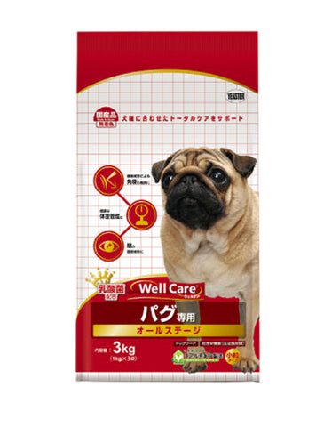 Well Care Pug Chicken Dog Dry Food 3kg | Perromart Online Pet Store Singapore