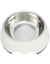 Paws & Pal Feed Pal Stainless Steel Feeding Bowl For Dog White (2 Sizes)