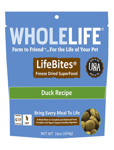 Whole Life LifeBites Duck Cat Food 16oz | Perromart Online Pet Store Singapore