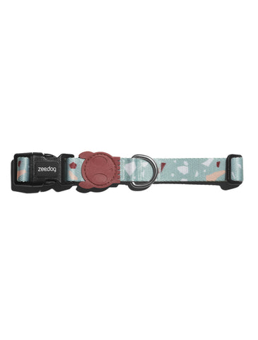 Zee Dog Terrazo Green Dog Collar (4 Sizes) | Perromart Online Pet Store Singapore