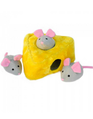 Zippypaws Burrow Mice 'n Cheese Dog Toy | Perromart Online Pet Store Singapore