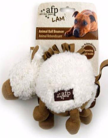 Afp Lambswool Cuddle Ball For Dog White | Perromart Online Pet Store Singapore