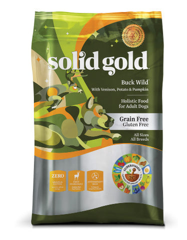 Solid Gold Buck Wild Grain & Gluten Free with Venison, Potato & Pumpkin Recipe Dry Dog Food | Perromart Singapore