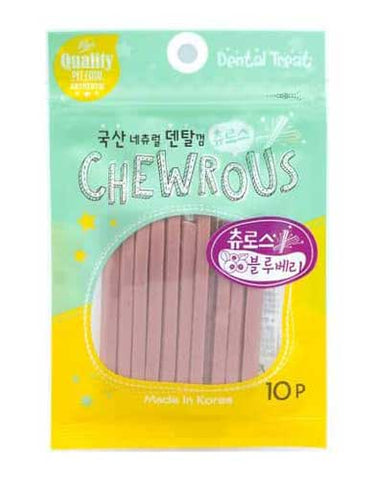 Chewrous Dental Chew Blueberry 10pcs | Perromart Online Pet Store Singapore