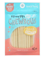 Chewrous Dental Chew Milk & Oatmeal 10pcs | Perromart Online Pet Store