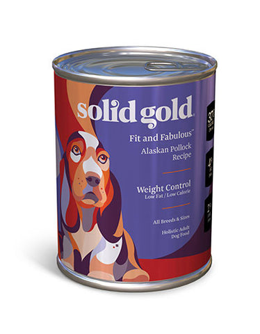 Solid Gold Fit and Fabulous Low Fat / Low Calorie Alaskan Pollock Recipe Canned Dog Food | Perromart Online Pet Store Singapore