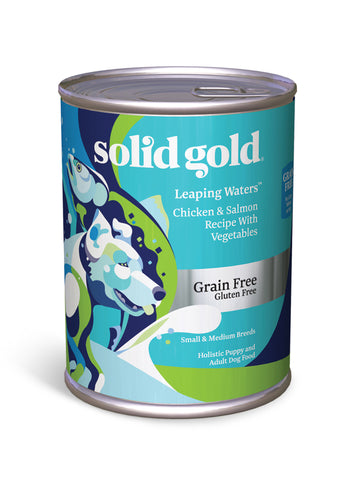 Solid Gold Leaping Waters Grain & Gluten Free Chicken & Salmon Recipe With Vegetables | Perromart Online Pet Store Singapore