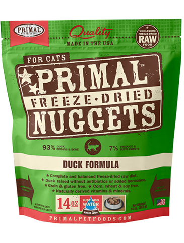 Primal Freeze Dried Feline Duck Nuggets (2 Sizes)