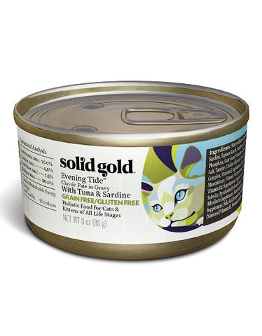 Solid Gold Grain & Gluten Free Evening Tide Classic Paté in Gravy With Tuna & Sardine Wet Canned Cat Food | Perromart Online Pet Store Singapore