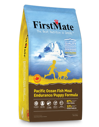FirstMate Normal Bites Pacific Ocean Fish Formula Puppy/Endurance Dry Dog Food | Perromart Online Pet Store Singapore