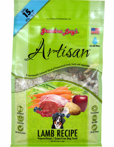 Grandma Lucys Artisan Freeze Dried Food Lamb Recipe 3lbs | Perromart