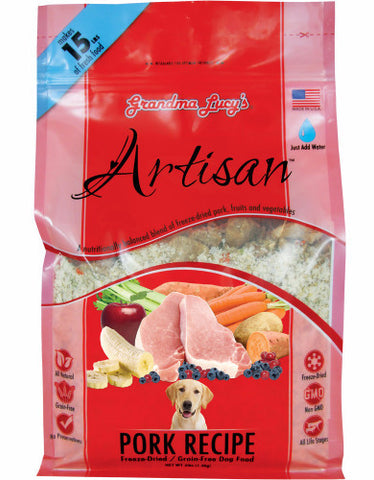 Grandma Lucys Artisan Freeze Dried Food Pork Recipe 3lbs | Perromart
