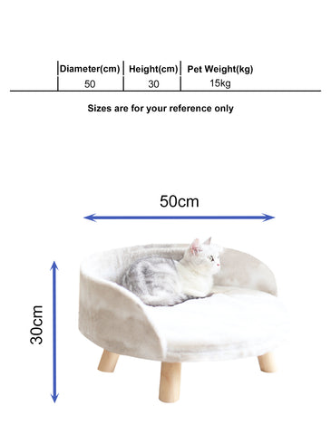 Paw Made Ultra Fluff Furry Elevated Big Sofa Bed for Cat & Dog