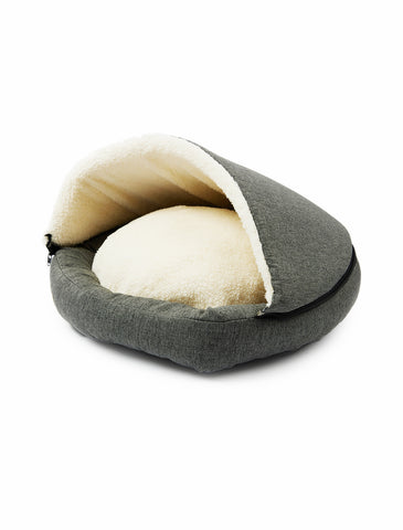 Paw Made Ultra Snug 2-in-1 Cave Bed in Stone