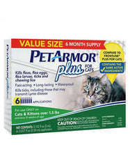 PetArmor® Plus F&T Squeeze-On Cat Over 1.5 lbs Blister 6 ct | Perromart Online Pet Store Singapore