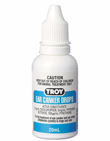 TROY Ear Cranker Drop For Earmites | Perromart Online Pet Store Singapore