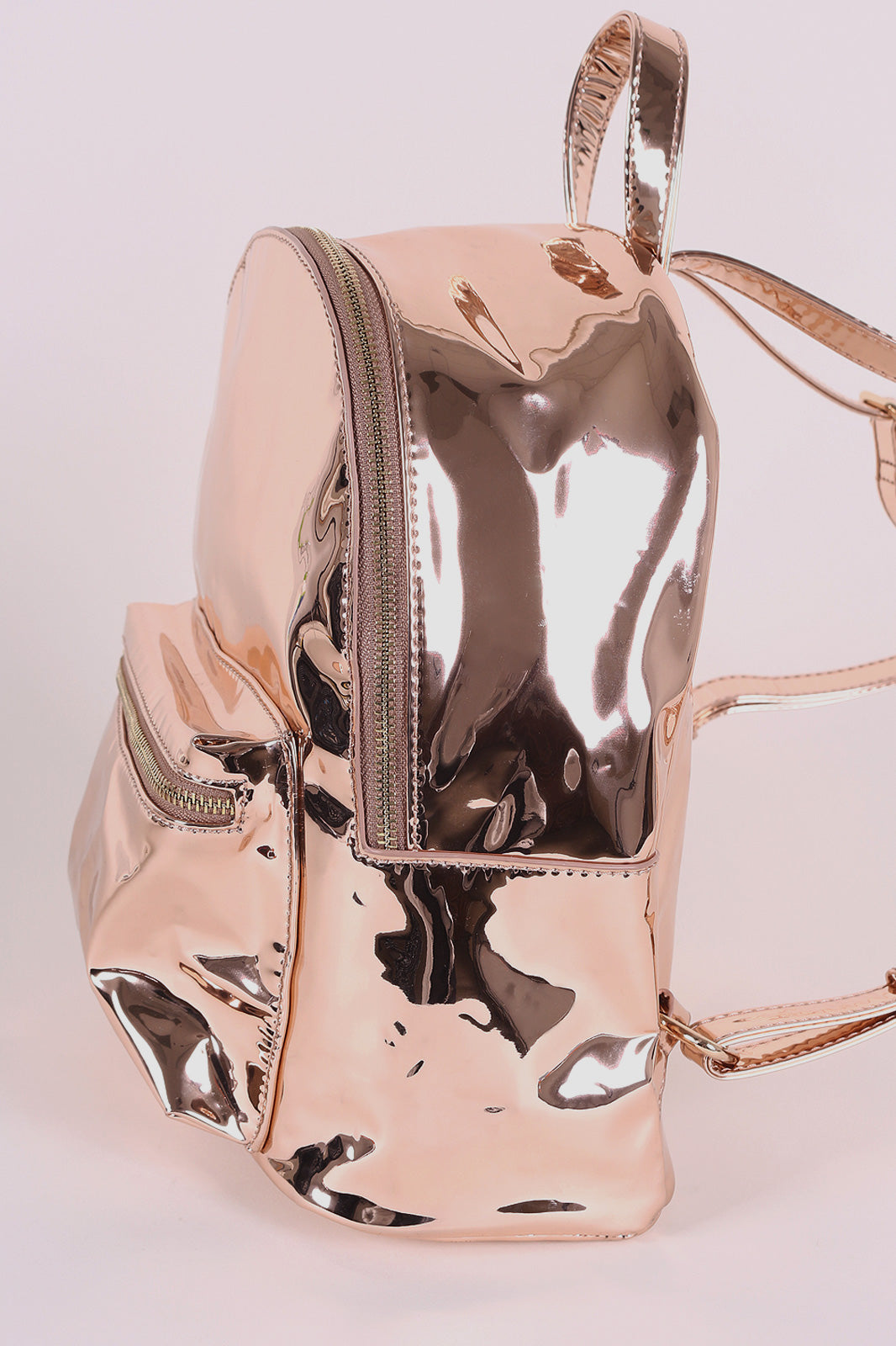 Mirrored Metallic Small Backpack