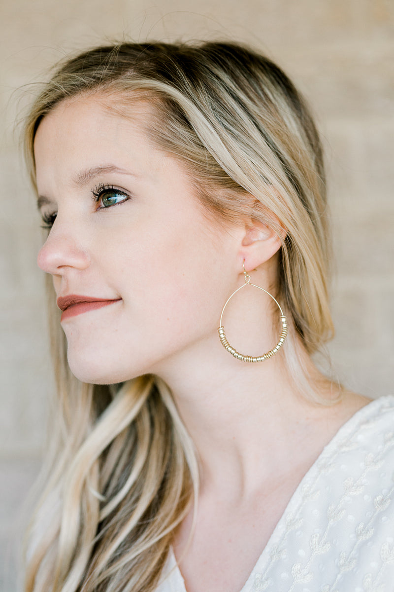 gold hoop earring - epiphany boutiques