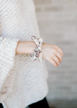 cream and floral scrunchie - epiphany boutiques