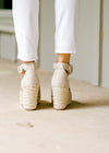 rustic roped platform wedge - epiphany boutiques