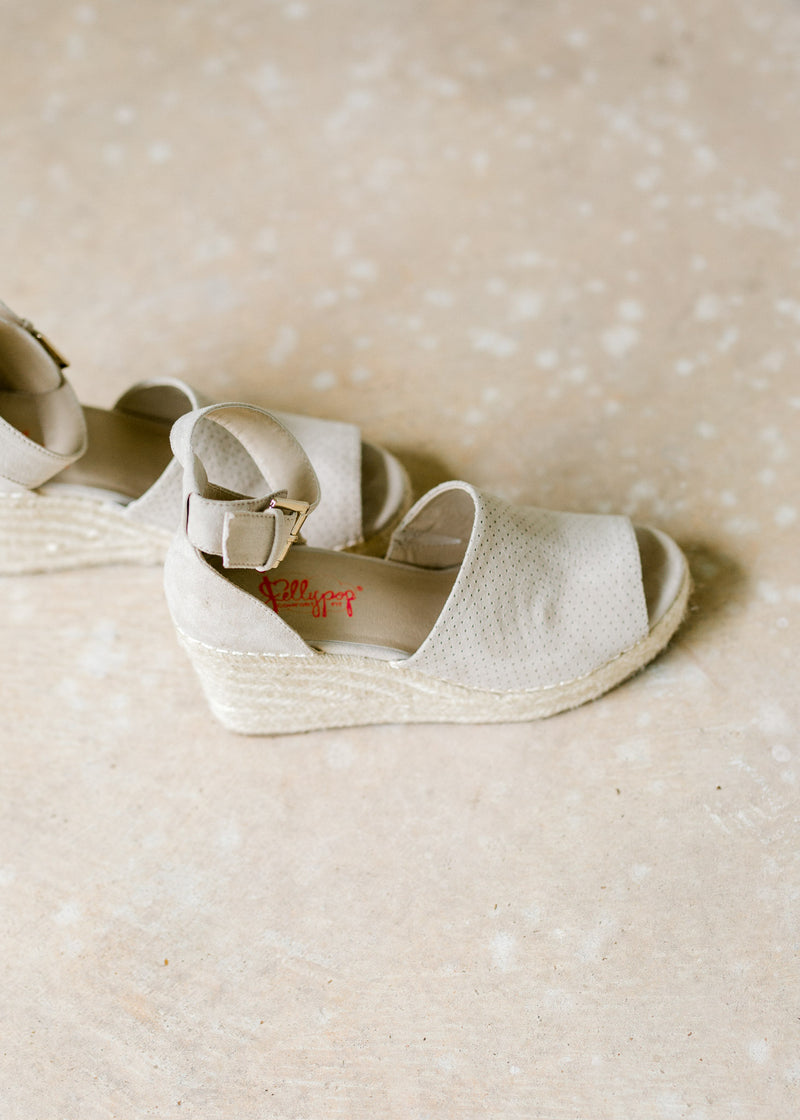wedges with gold buckle - epiphany boutiques