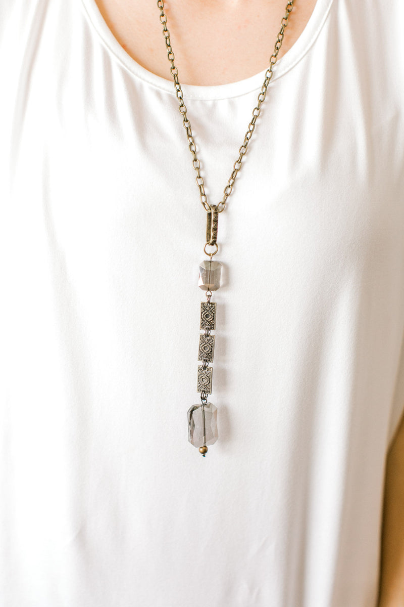Rectangular Disc Necklace