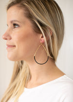 Teardrop Earrings in Black