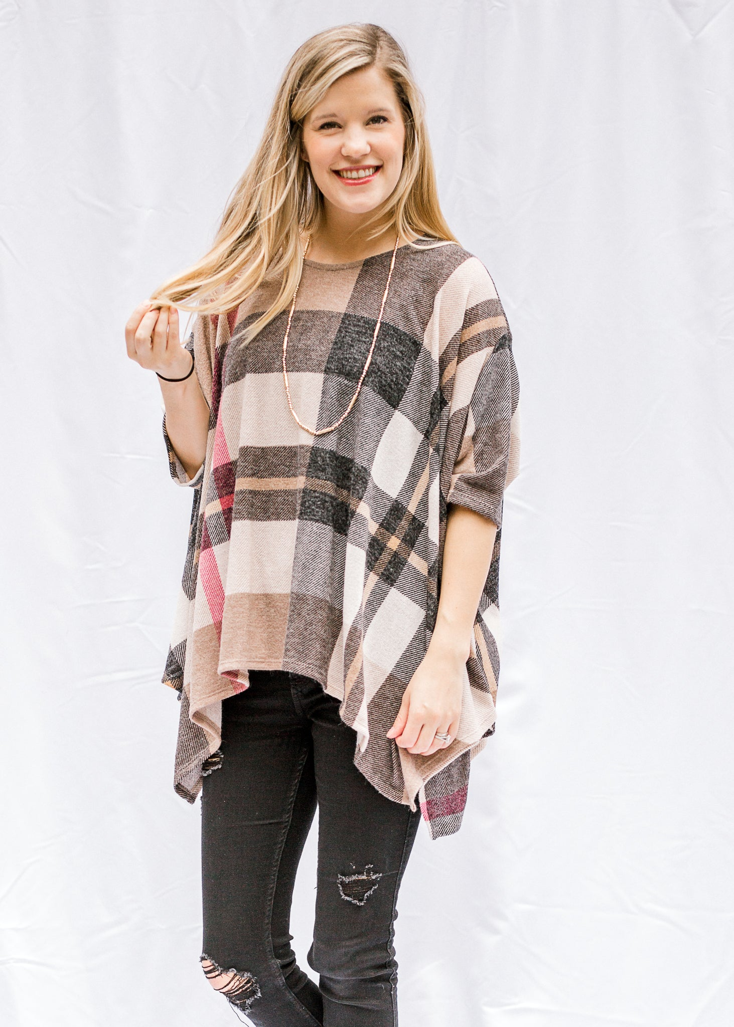 Teresa Plaid Top